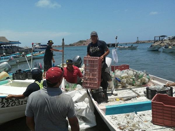 Pesca de plastico